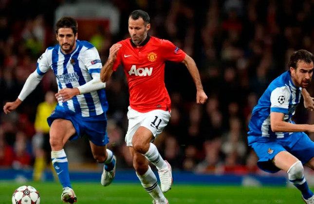 Ryan Giggs é lenda do Manchester United, único clube que defendeu na vitoriosa carreira de 35 títulos.