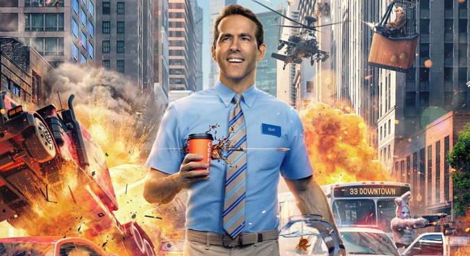 Ryan Reynolds protagoniza a comédia de ação 'Free Guy: Assumindo o Controle'