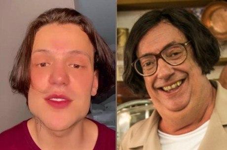 Cantor foi comparado ao personagem de TV