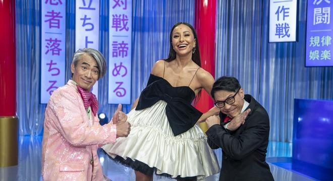 Sabrina Sato com Yoshi e Mr. Fu