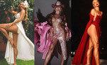 Elegante e sensual, Sabrina Sato não tem medo de mostrar as curvas. A apresentadora virou a rainha das fendas ao apostar em looks com aberturas pra lá de ousadas. Os modelos são criados para brincar com o movimento do tecido e também deixar as pernas à mostra. Veja