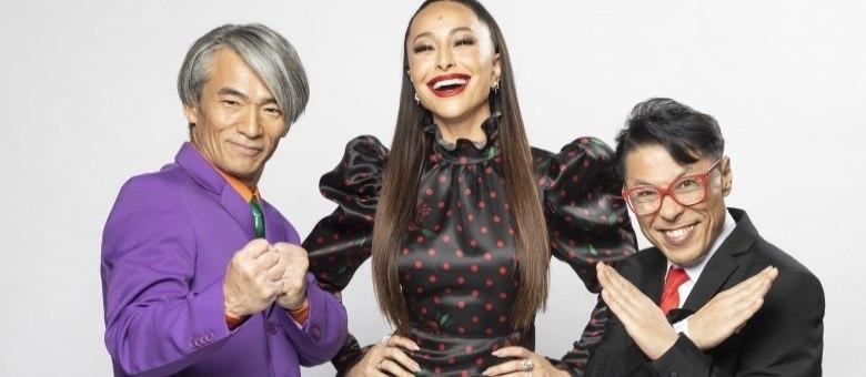Sabrina Sato comanda o game ao lado de Yoshi e Mr. Fu