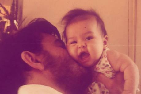 Sabrina Sato e o pai Omar Rahal