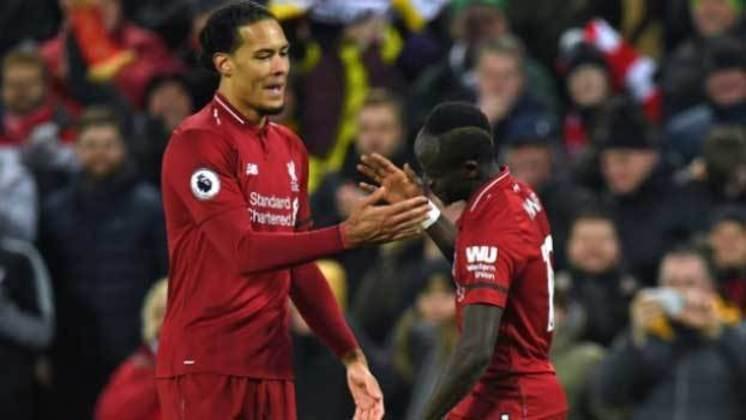 Sadio Mané e Van Dijk: jogaram juntos no Southampton e no Liverpool.