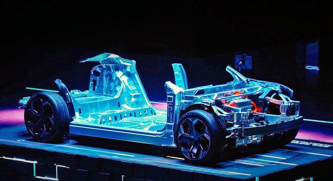 Plataforma modular SEA desenvolvida pela Geely e que pode originar um SUV compacto da Volvo