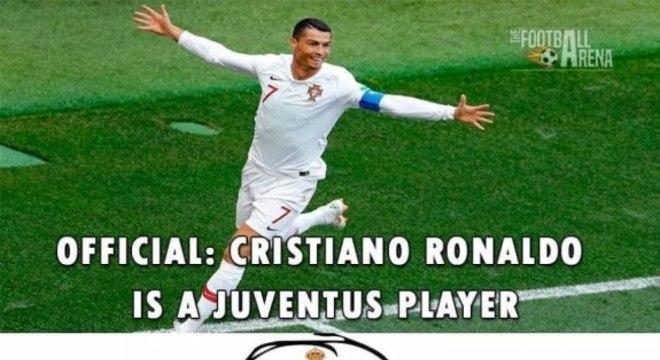 Acerto de Cristiano Ronaldo com a Juventus gera memes f276541d5acaa