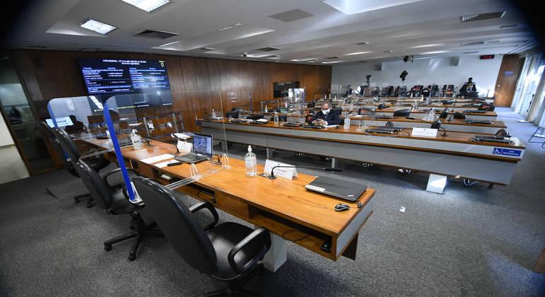 Sala da CPI da Covid, no Senado