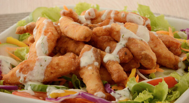 salada iscas
