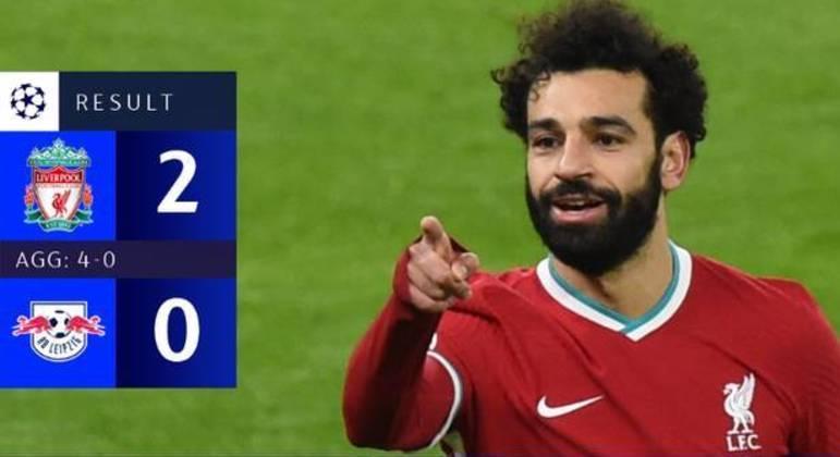 Salah, cada vez mais o astro do Liverpool