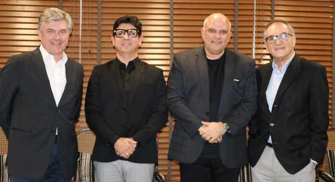 Da esquerda para a direita: Caio Barsotti, André Dias, Marcus Vinicius e Dalton Pastore