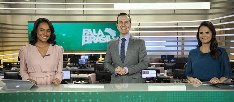"Salcy Lima, Celso Zucatelli e Roberta Piza, apresentadores do ""Fala Brasil"""