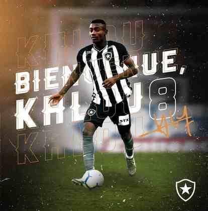 SALOMON KALOU desembarcou como um dos astros do Botafogo na temporada e já atuou em dez partidas. Marcou um gol.