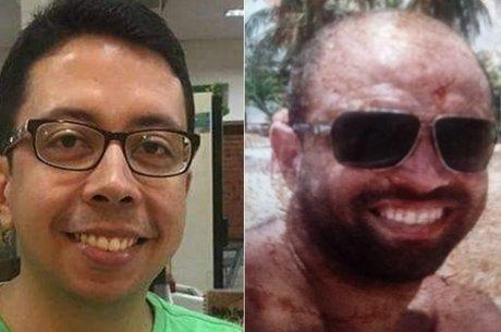 Aldo Lopes (vítima) do lado esquerdo e João Ricardo (Autor) do lado direito