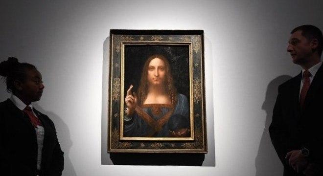 """O """"Salvator Mundi"""" foi arrematado por um comprador anônimo em 2017"""
