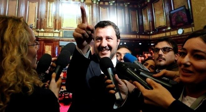 Salvini é um dos políticos mais reconhecidos pelo eleitorado de seu país
