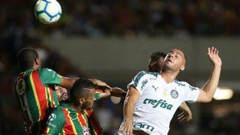 __Palmeiras decepciona, mas arranca vitória no Maranhão__ (Divulgação/Palmeiras - 22.5.2019)