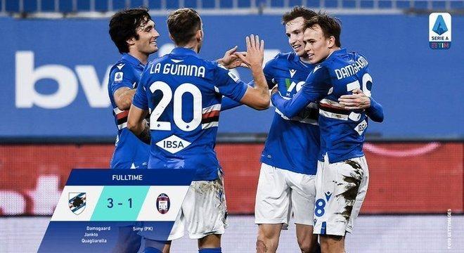 Sampdoria 3 X 1 Crotone