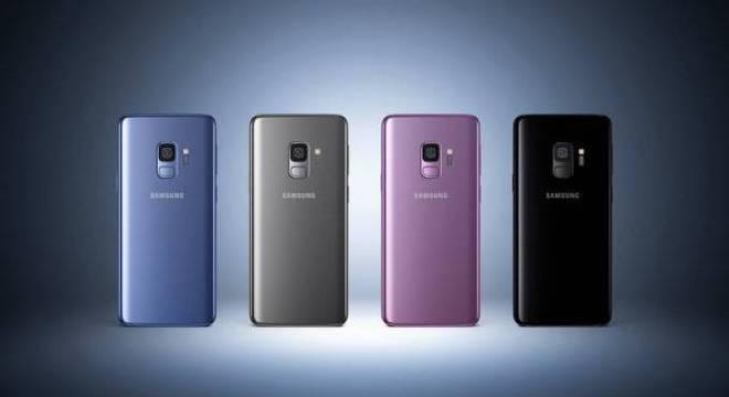 O Samsung S9 foi  lançado em quatro opções de cores