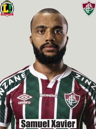 Samuel Xavier - 4,0 - Falhou em ataques do Palmeiras, deixou a área exposta e sobrecarregou Manoel. Melhorou ofensivamente no segundo tempo, mas não teve destaque.