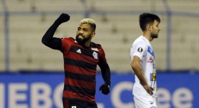 San José x Flamengo Gabigol