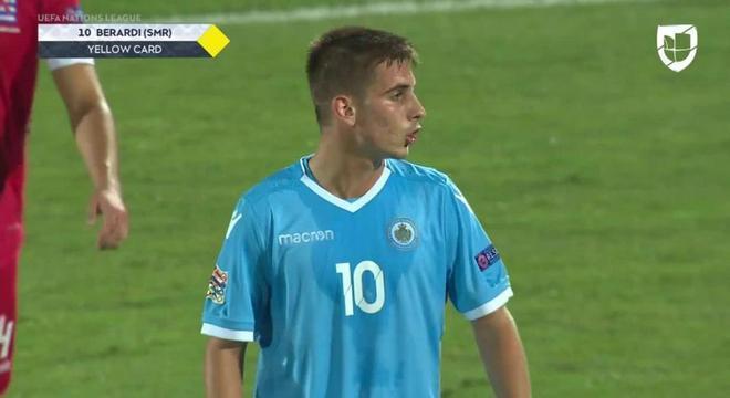 Filippo Berardi, o primeiro gol de San Marino desde Setembro de 2017