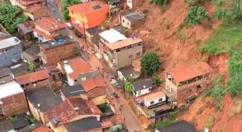 Governador de Minas lamentou mortes e destruição na cidade, por causa das chuvas