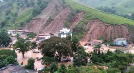 Encostas cederam em Santa Maria de Itabira