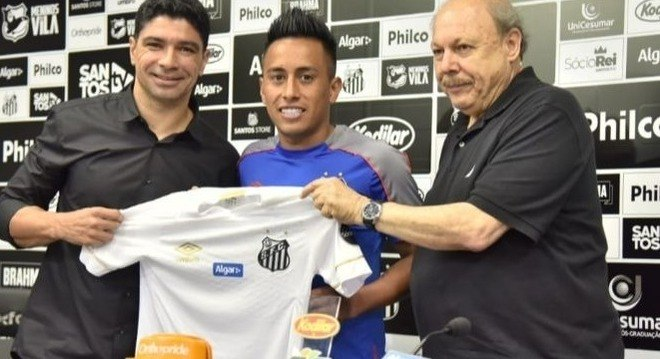 Cueva. Outro péssimo negócio feito pelo Santos. Deve R$ 26 milhões pelo jogador