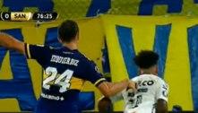 Pênalti vergonhoso não marcado para o Santos. 0 a 0 com o Boca