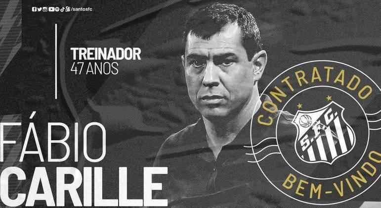 Fábio Carille é o novo técnico do Santos