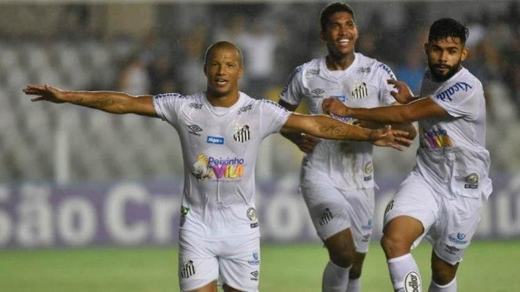 Santos 2 x 0 Botafogo-SP (Paulistão) - Vladimir; Pará, Luan Peres, Luiz Felipe e Felipe Jonatan; Alison, Diego Pituca (Jobson) e Sánchez; Soteldo, Raniel (Kaio Jorge) e Eduardo Sasha (Renyer).