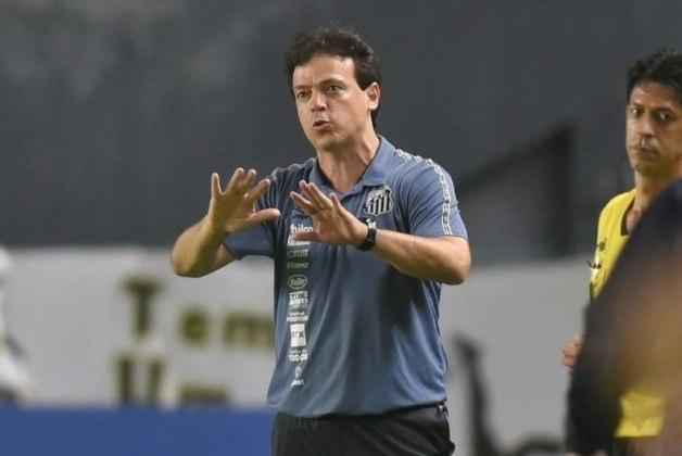 Santos (2021) - Fernando Diniz fez sua estreia no comando técnico do Peixe, no dia 11 de maio, pela Copa Libertadores, diante do Boca Juniors, na Vila Belmiro. Os resultados não vieram, a equipe foi eliminada da Copa Sul-Americana, e depois da derrota para o Cuiabá, o técnico foi demitido. Foram 31 partidas à frente do Peixe, com 11 vitórias, oito empates e 12 derrotas.