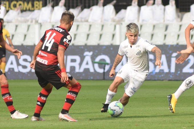 Santos teve o domínio do jogo, com elenco muito pior. O Flamengo mudou