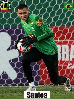 Santos - 6,0 - Não foi muito exigido ao longo da partida e também não teve culpa no gol sofrido.