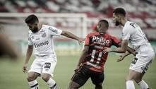 Santos perde para Athletico e sai atrás nas quartas da Copa do Brasil