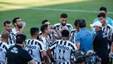 Carille elogia 1ºT do Santos e lamenta gols em bolas paradas