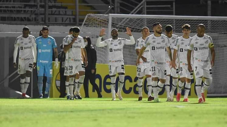 Santos: cenário 2 (com transferências de atletas) - Receitas: R$ 150 milhões - Folha salarial: R$ 136 milhões - Receitas x Folha (em %): 91% - Conclusão: acima do fair play financeiro.