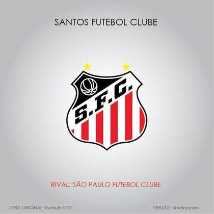 Santos com as cores do São Paulo