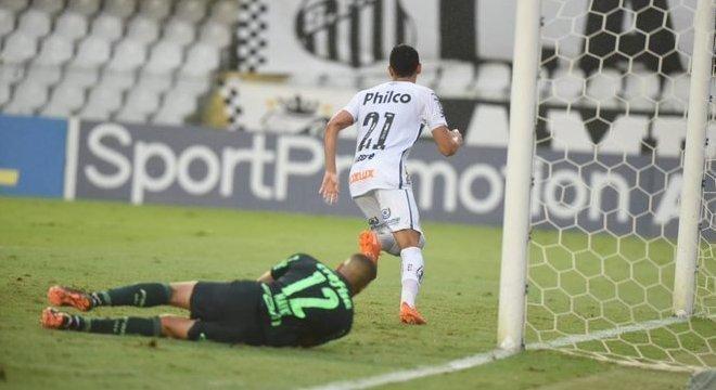 O Santos foi melhor. Mas o Palmeiras, mesmo cansado, na defesa, segurou o empate