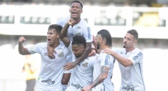 Santos x Grêmio - Comemoração
