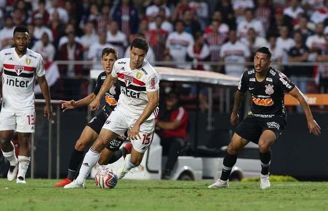 São Paulo – 7 jogadores: Miranda (36 anos), Reinaldo (31 anos), Dani Alves (37 anos), Hernanes (35 anos), Rojas (31 anos), William (34 anos) e Éder (34 anos)