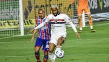 Com gol no final, São Paulo vence o Bahia por 1 a 0 e respira