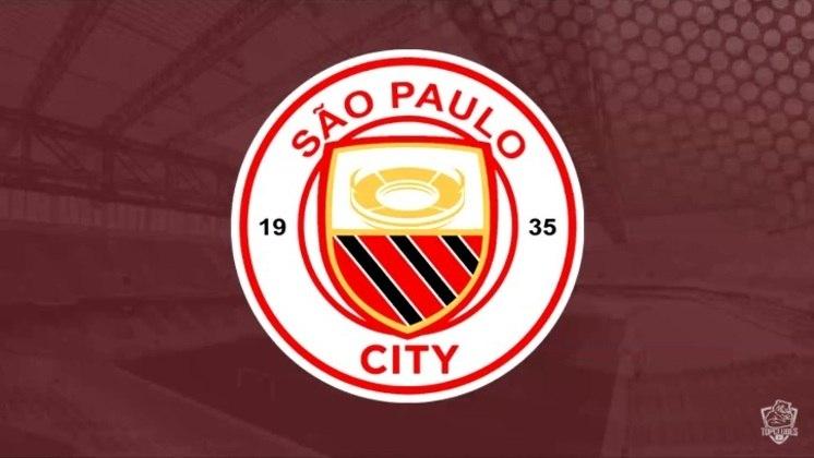 Escudo do São Paulo com as características do Manchester City