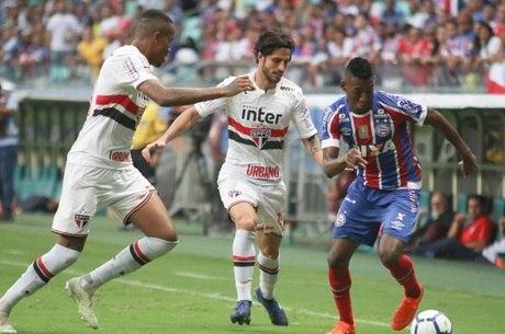 São Paulo empatou com o Bahia na Arena Fonte Nova