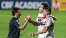 São Paulo só empata com Coritiba e chega a cinco jogos sem vitória