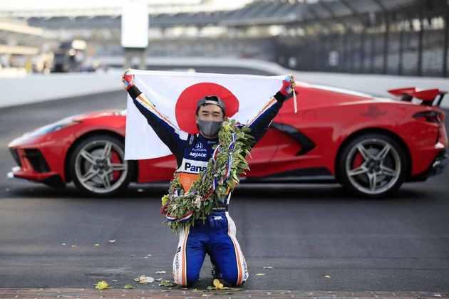 São seis vitórias para Sato na Indycar