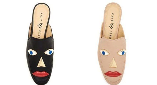 Sapatos com rosto da marca Katy Perry foram considerados racistas