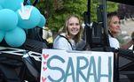 Sarah surpreendeu sua família e seus médicos durante sua recuperação de meses, tanto por sua determinação quanto por seu otimismo constante