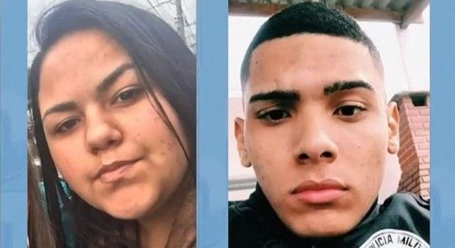 Deise da Costa, de 15 anos, e Rodrigo Mathias, de 21 anos