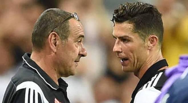Sarri e Cristiano Ronaldo, uma cereja sem bolo